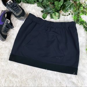 Rare Nike Sportswear Black Neoprene Tube Skirt NSW